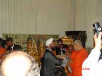 Highlight for album: ผู้นำศาสนาโลกเข้าเยียมสักการะเจ้าประคุณสมเด็จพระพุฒาจารย์